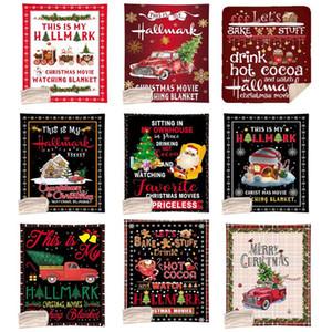 Weihnachtsdecke 130 * 150cm Weihnachten Design Digital Printing Blanket Coral Fleece Single Layer Quilt Merry Xmas Sofa Decke DHC1966