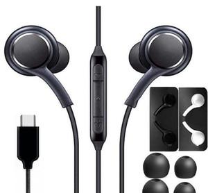 Наушники для наушников на наушники для примечания 10 Type-C гарнитура для наушников стерео с микрофоном для Samsung Galaxy Note 10 A60 A80S S10