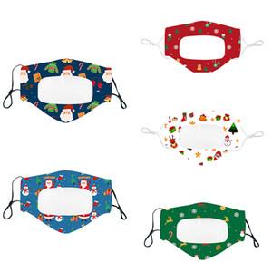 Weihnachten Lippen Sprache Mask Mode Transparent Druck Facs Masken für Erwachsene und Kinder Weihnachten Design Masken freies DHL OWB1228