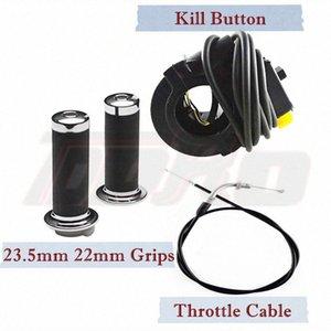 Motorcycle Handlebar Grip Twist + Throttle Cable + Kill Switch Button 2 Stroke Engine Kit for 80 70 66 50cc Motorized Dirt Bike V5n4#