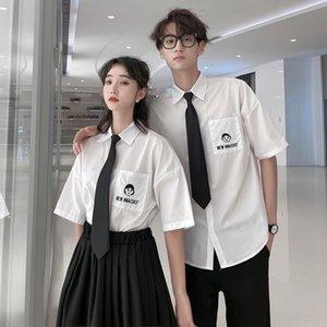 kBorE 41jRO okul styleStyle Koreli gömlek JK üniforma takım elbise Junior High Yaz ve üst düzey yüksek okul mezuniyet fotoğraf giyim Gömlek giyim
