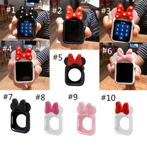 Soft Silicone Protector Case for Apple Watch Series 5 4 3 2 1 Band iWatch 38 42 40 44mm Cartoon Mouse