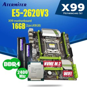 atermiter X99 PC4 DDR4 D4 Motherboard Kombinationen mit Xeon E5 2620 V3 LGA2011-3 CPU 2ST GB = 16 GB 2400MHz Desktop DDR4 Speicher