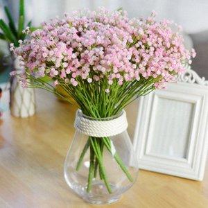 7 раздвоение Букет Babysbreath шелк Искусственный цветок украшение украшения младенца Breath Поддельный Rose Flowers Bouquet KKfV #