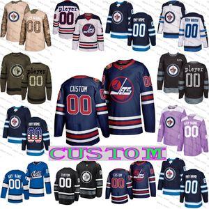 CUSTOM Winnipeg Jets Jersey Connor Adam Lowry Hellebuyck Nikolaj Ehlers Carl Dahlstrom David Gustafsson Tucker Poolman Josh Morrissey
