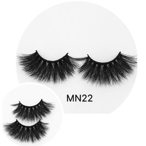 25mm Long mink false eyelashes thick curly messy mink hair fake lashes reusable handmade eye lashes extensions eye makeup drop shipping