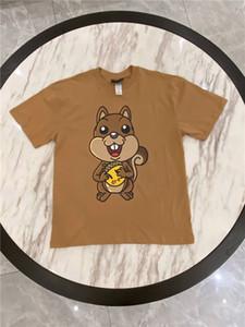 Été 2020 Drew Bieber Maison imprimé écureuil mignon T-shirt Homme Femme marée col rond manches courtes en vrac Casual Drew House Tee