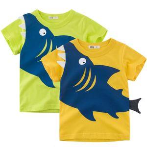 Clearance HOT Children Kids Baby Girls Boys Summer T Shirt Cotton Dinosaur Sleeve T-shirt Kid Boy Casual Cute T-shirt Tee Tops Shirt