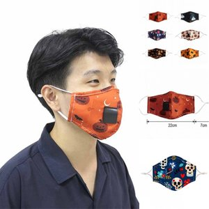 Halloween Party Straw Máscara Beber PM2.5 poluição Nevoeiro Cotton Mouth Straw Máscara Máscara Homem Mulher reutilizáveis Rosto Boca