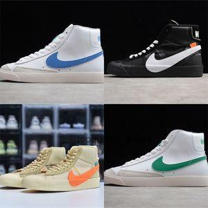 Nike SB Zoom Blazers Mid 77 Vintage Lucid Green 1977 QS Edge Womens Shoes Basketball Sneakers mens designer blazers Hack Pack midnight BQ6806-600