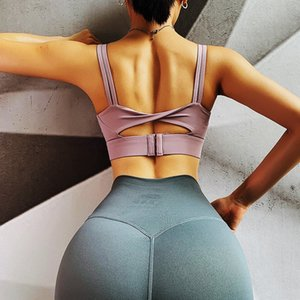 Super Sexy Sports Bra for Women Solid Fitness Yoga Tank Top Push up Underwear Running Shockproof Shirt Workout Athletic Vest XS
