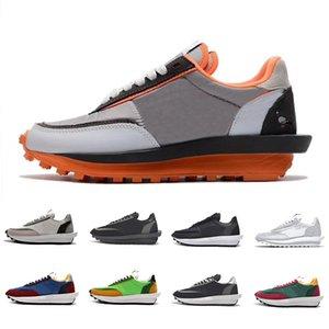 sacai x Nike LDV Waffle Blazer Mid NYC Pigeon X LDV Waffle Daybreak Trainers Mens Running Shoes Black Nylon Varsity Blue Pine Green Gusto Women men Sports designer Sneakers