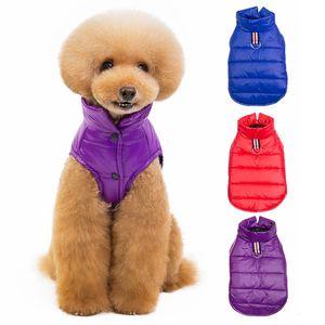 Pet ispessimento Abbigliamento Cani solido del cappotto di inverno di autunno caldo Giacca cucciolo Tuta costume per le forniture di cani Giù parka cane