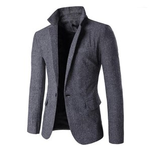 Mens Blazers with Pockets Casual Male Outerwears Mens Designer Blazers Single Button V Neck Slim Man Blazers Long Sleeve