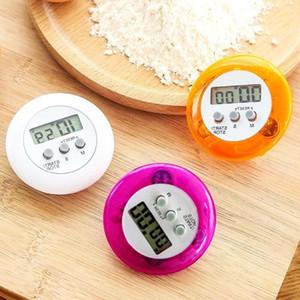 Nouveauté numérique minuterie Helper cuisson Mini LCD numérique Forme Ronde électronique Compte à rebours clip minuterie réveil AHD1055