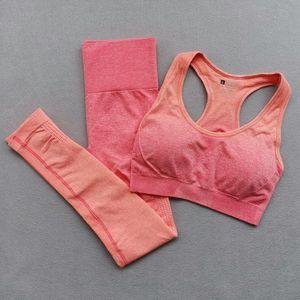 Trainingsanzüge Designer Womens Yoga Outfits Anzüge Nahtlose Sportwear Fitness Sport Turnhalle Gymshark Zwei Teil Set Workout BH Leggings Frau Tänzerin Tragen Runner Richten Hose