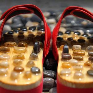 Massage Slipper Schuhe Chinese Pedicure Cobblestone Accupressure Fuß Acupoint Männer Frauen Gesundheitswesen Pantoffel EuPC #