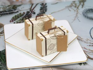 speical design of suitcase paper candy box for wedding birthday anniversary celebration party festival MOQ 50pcs free shipping by epack