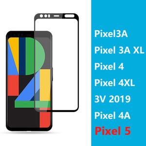 Couverture intégrale complète de la colle protection d'écran de téléphone en verre trempé pour le pixel Google 5 pixel pixel5 3A XL Pixel 4 4A XL 3v 2019 protecteur en verre