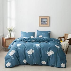 Bonenjoy Duvet Cover Sets Cute Clouds Bedding set Bedclothes King Size Quilt Cover With Pillow Covers For Adult dekbedovertrek