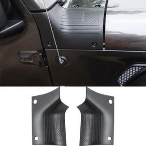 Cubiertas ABS Negro capucha coche Body Armor Capota del Jeep Wrangler JL JT 2018+ coche Accesorios Exterior (bandera americana)
