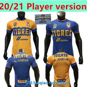Versione del giocatore 2020 2021 Uanl Tigres Gignac Jerseys Soccer Kits 20 21 Vargas Camiseta Maillot Casa Away Pizarro Mexico Camicie da calcio