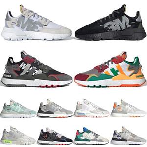 adidas nite jogger homens basculador zapatos moda nite tênis 3M xeno reflectve montanhismo branco mulheres ouro verdes colegiados de jogging sapatos de desporto 36-45