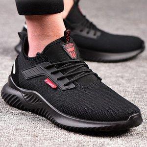 Chaussures de sécurité de travail de la tête en acier pour hommes chaussures de sport en plein air respirant occasionnels perforent bottes de protection confortable industrielle