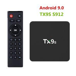 TX9S TV Box 2 GB RAM 8 GB ROM Android 9.0 TV Box Amlogic S912 Octa-Core-Set-Top-Box 2,4 GHz Wireless-LAN 4K