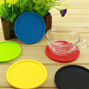 Impermeável resistente Coaster Mat Cup Colorido Silicone Redonda calor do copo de café Titular Thicken Coffee Coaster Almofada Placemat Pad BC BH1102