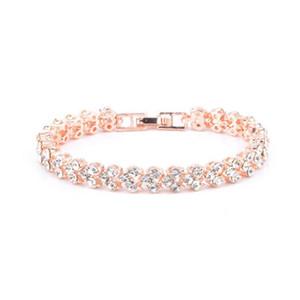 Korean Style Fashion Hand Bracelet Women Jewelry Personality Bracelet with Rhinestone for Wedding Party