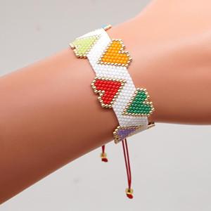 Xuxi Amor Padrão moldura Definir Miyuki arroz Beads Weaving Mulheres na moda Pulseira moda Braceletes SS001