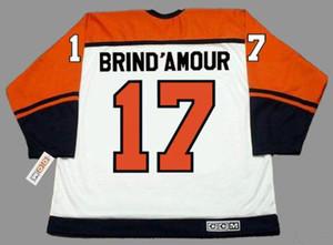 Männer Frauen Jugend 2018 Individuelle Goalie Cut Rod Brind'Amour Philadelphia Flyers 1997 Startseite Hockey Jersey Alle genähtes irgendein Name Alle Anzahl