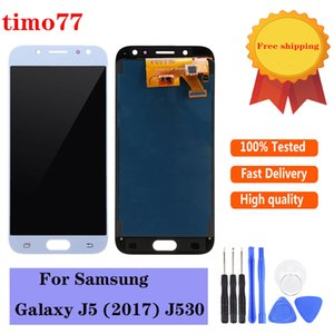 High quality TFT brightness adjust For Samsung Galaxy J5 2017 J530 lcds display touch screen digitizer assembly with 2 years warranty