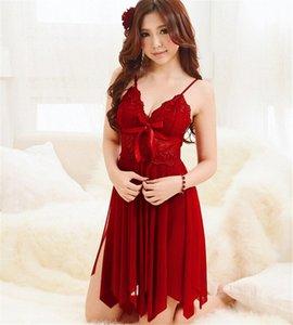 도매 - 브랜드 슬립 드레스 여성 레이스 나이트 가운 여성 잠옷 이국적인 유혹 Nighties 여성의 밤 드레스 섹시 란제리 잠들지 4nck #
