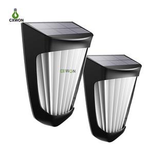 2PCS في الهواء الطلق مصابيح الحائط 10LEDs مقاوم للماء استشعار الحركة الشمسية حديقة ضوء مصباح للفناء الحديقة الخلفية