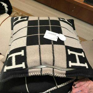 7 colori Smelov moda vintage federa lettera pile H marchio europeo Cover cuscino lana tiro di lusso federe 45x45 65x65cm