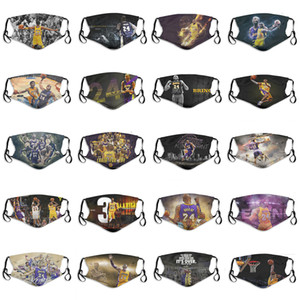2020 Новый Роскошный Защитная маска Ice Шелкового баскетбольной команды юбилейного издания 24 # Black Mamba No. 8 # многоразового маска РМ2,5