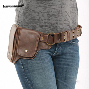 Pin On Waist Hip Packs Pouch Bag Viking Pocket Belt Leather Wallet Travel Steampunk Fanny Gear Accessory Cosplay For Women Cxvl#