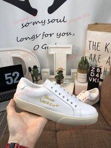 Yves Saint laurent casual shoes  Sain ouro negro amantes casuais sapatos masculinos brancos buracos bordados plana das mulheres para fazer o velho sapatos de lona 36-44
