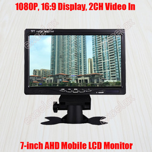 """7-Inch 720P 960P 1080P 2MP HD AHD Mobile Monitor 7"""" LCD Display 2CH A V Video Car Rear View for CCTV Surveillance Vehicle Mount"""