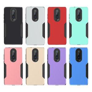 Cgjxsfor Coolpad Legacy-Hybrid-Rüstungs-Kasten für Motorola Moto G7 Netz G7 Spiele Usa Fall-Carbon-Faser-Kapitän Telefon-Kasten B