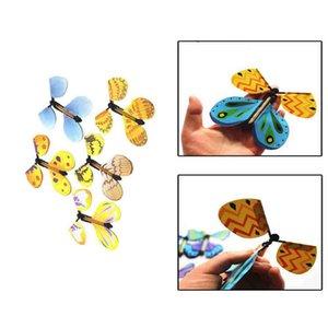 600PCS الإبداعية سحر فراشة تطير الفراشة تغيير مع فارغة اليدين الحرية الفراشة ماجيك الدعائم الخدع السحرية FY4201