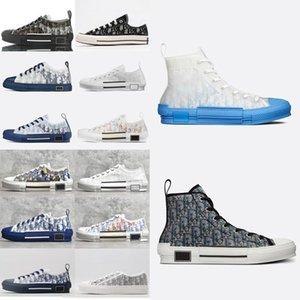 Dior 19FW B23 Косые 2020 High Low Top Sneakers марочные платформы Obliques Технические кожаные ботинки мужские ботинки женщин Новая мода Тренеры 3 5W99 #