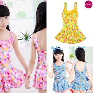 Девочек принцессы платье купальник купальник цельный платье принцессы милый корейский средний и большой детский ребенок плавках детский басс