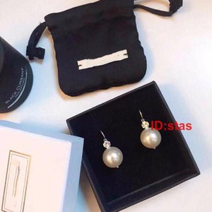 Luxury Designer Jewelry Women Earrings Pearl Silver Earring Female Anti Allergy Valentine's Day Gift Designer Earrings