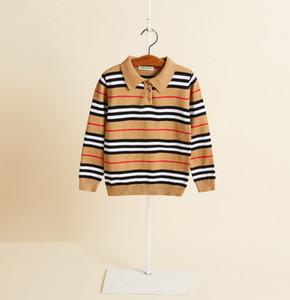 Children sweatshirt brand designer kids clothes boys stripe long sleeve casual pullover fall new boys cashmere jumper A3979