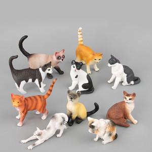 Yüksek Kaliteli Sevimli Kedi Hayvan Modeli Oyuncak Figurine Modeli Süsleme Oyuncaklar komik Çocuklar Oyuncak Hediye Z0306