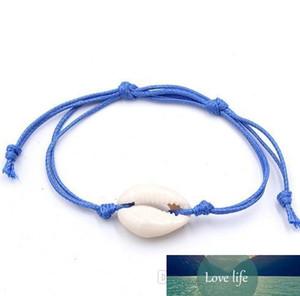 Shell Armbänder, Wickelarmbänder, Unisex Bohemian Ausziehbare Wachs-Schnur gesponnene Armbänder