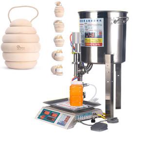Automatique petite machine de remplissage de miel de miel lait de sésame manuel de yogourt sauce au sésame huile pesant remplissage quantitative liquide mac
